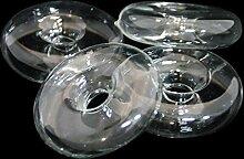 Glaskönig Blütenring Glas Blumenhalter Dekoration Wohnung 3er Set Blütenschwimmer Durchmesser 7,5cm