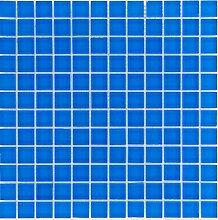 Glasmosaik Fliesen blau uni Wand Boden Dusche WC