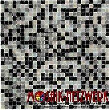 Glasmosaik Fliesen grau schwarz mix Wand Boden