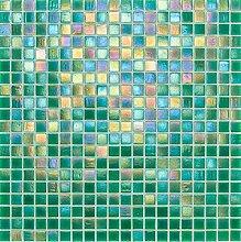 Glasmosaik Fliesen grün perlmutt Wand Boden