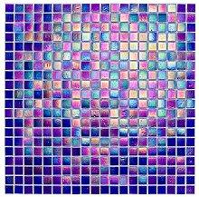 Glasmosaik Fliesen lila perlmutt Wand Boden Dusche
