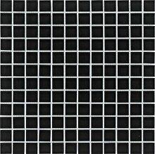 Glasmosaik Fliesen schwarz uni Wand Boden Dusche