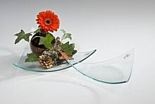 Glasplatte, Deko Kerzenteller PROPER dreieckig 20x23cm klar Sandra Rich (2,95 EUR / Stück)