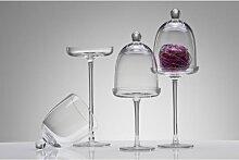 Glasplatte, Glasglocke auf Fuß mit Glocke Haube H 40cm D. 12cm klar Sandra Rich (18,50 EUR / Stück)