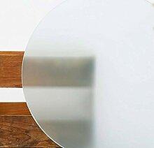 Glasplatte Rund Tischplatte Kreis satiniert 8mm