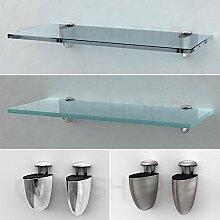 Glasregal 400x200x8mm   Klarglas