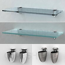 Glasregal 400x200x8mm   Mattglas
