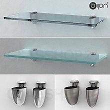 Glasregal 600x120x8mm   Mattglas