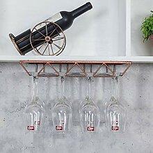Glasregal, für bis zu 8 Gläser, Metallhalter