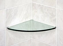 Glasregal Glas Ecke 10x 10Kurve 3/20,3cm