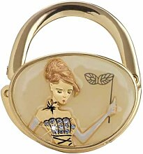 GLASS SLIPPER, Beige GOLD, Design Handtasche Haken Kleiderbügel Yvette Jordan Vanity Fair by Arora Design