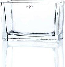 Glasschale, Dekoglas JARDINIERE H. 10cm 8x15,5cm