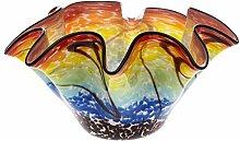 Glasschale Glas Vase im Murano Stil glass vase