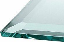 Glasscheibe Glasplatte Klarglas Rechteck 115 x 65