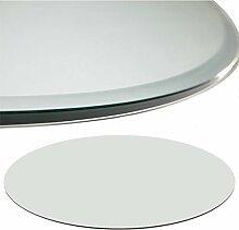 Glasscheibe Glasplatte Klarglas Rund 90 cm Funkenschutzplatte Glasboden Bodenplatte für Kamin Ofen Glas Glasbodenplatte Kaminbodenplatte Funkenschutz Kaminofen 6 mm Sicherheitsglas