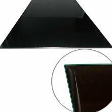 Glasscheibe Glasplatte Schwarz Rechteck 80 x 60 cm Funkenschutzplatte Glasboden Bodenplatte für Kamin Ofen Glas Glasbodenplatte Kaminbodenplatte Funkenschutz Kaminofen 6 mm Sicherheitsglas