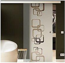 Glasschiebetür 217,5x90 cm Dessin: Ketten-Design
