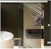 Glasschiebetür 217,5x90 cm Dessin: Stadt-Design