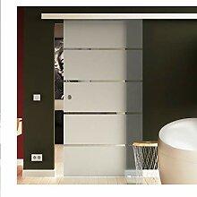 Glasschiebetür SoftClose 90x205 cm in