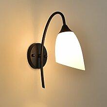 Glasschirm Wandbeleuchtung, Indoor Eisen Wandlampe