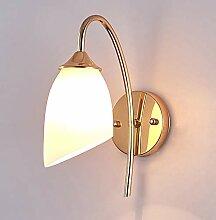 Glasschirm Wandlampe Indoor, Bett Eisen Wandlampe