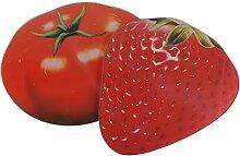 Glasschneidebrett Früchte