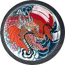 Glasschrank Knöpfe Drachensonne Mit Visuellen
