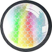 Glasschrank Knöpfe Farbverzierung Mit Visuellen