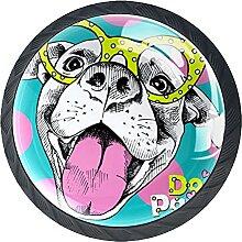 Glasschrank Knöpfe Hundebrille Mit Visuellen