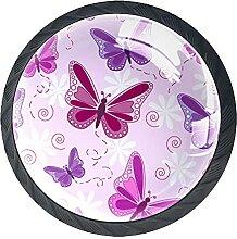 Glasschrank Knöpfe Schmetterling Mit Visuellen