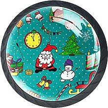 Glasschrank Knöpfe Weihnachtsmuster Mit Visuellen