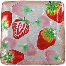 Glasserie Früchte Erdbeeren, Glasplatte