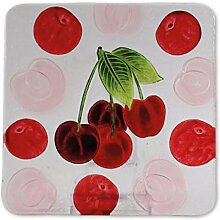 Glasserie Früchte Kirsche, Glasplatte quadratisch