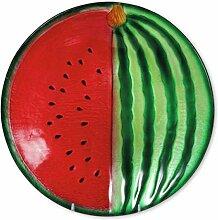 Glasserie Früchte Melone, Glasplatte rund 30cm