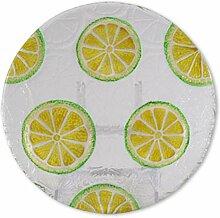 Glasserie Früchte Zitrone, Glasplatte rund 21cm
