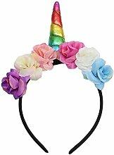 Glassgow inhorn Stirnband Horn Haarreif Haarband Kopfschmuck für Halloween Party (Bunt)