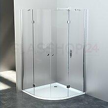 glasshop24 Duschabtrennung Viertelkreis |