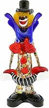 GlassOfVenice Murano Glas Clown mit Akkordeon