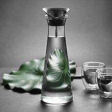 Glastal 1L Glaskaraffe Glaskrug aus