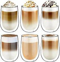 Glastal Doppelwandige Latte Macchiato Glaser Set