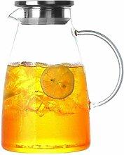 Glasteekanne Wasserkaraffe Glas Teekanne Krug mit