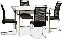 Glastisch 'Rodi' Küchentisch 120x80cm