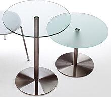 Glastisch Rexite Desco 60 cm Auswahl Farbe Optionen