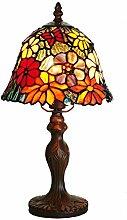 Glastischlampe im europäischen Stil Garten Schlafzimmer Nacht Wohnzimmer dekoriert romantisch exklusive Tischlampe Schreibtischlampe leuchte