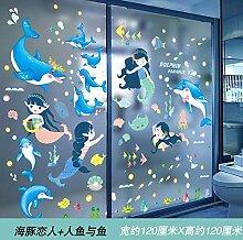 Glastür Aufkleber Cartoon Fenster Gitter