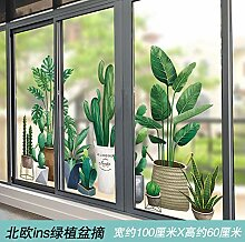 Glastür Aufkleber Fenstergitter kreative