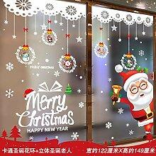 Glastür Aufkleber Weihnachtsdekoration Aufkleber