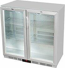 Glastür-Kühlschrank 90 x 90 x 52 cm schwarz |