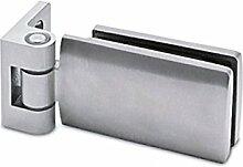 Glastür-Scharnier 90° für Glas-Wand-Montage