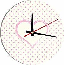 Glasuhr Ein Herz für Pünktchen B x H: 30cm x 30cm von Klebefieber®